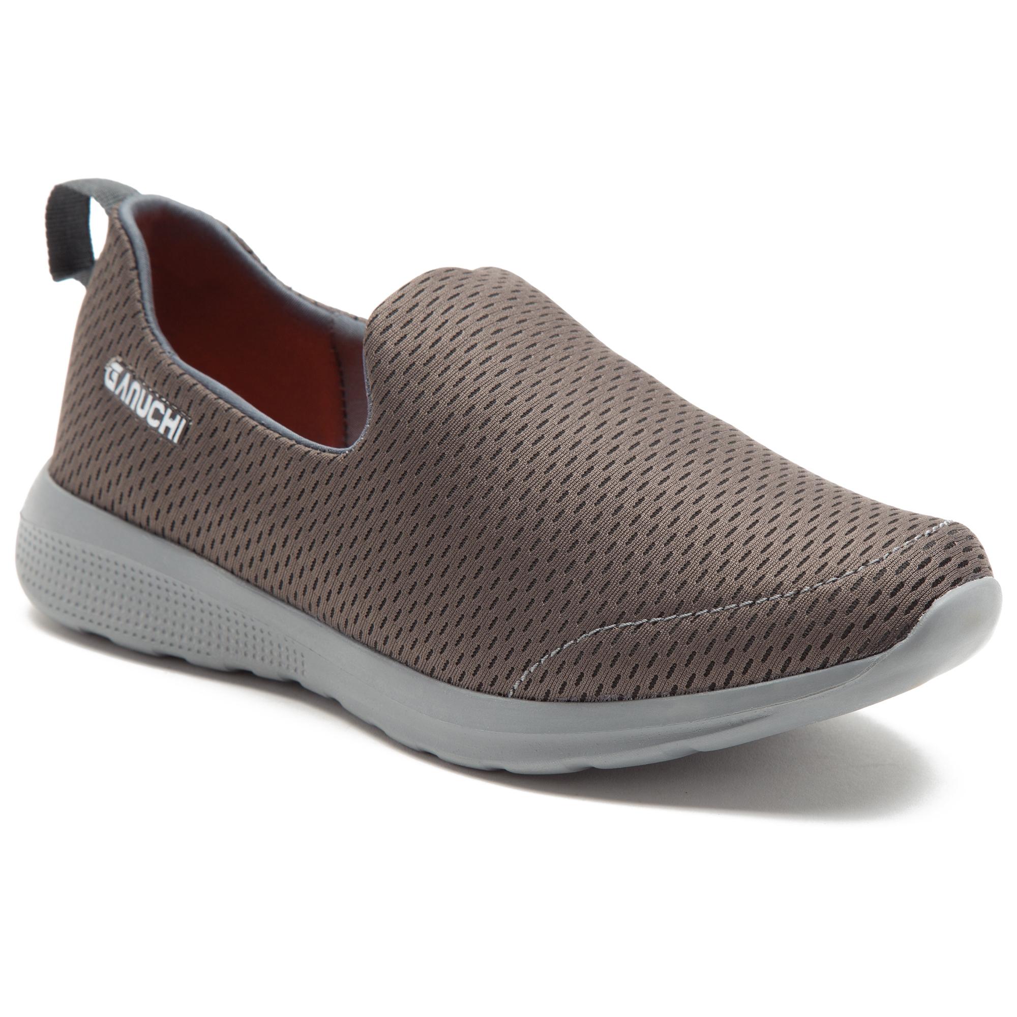 GANUCHI   Ganuchi by Franco Leone Men's Mesh Grey Running Shoes