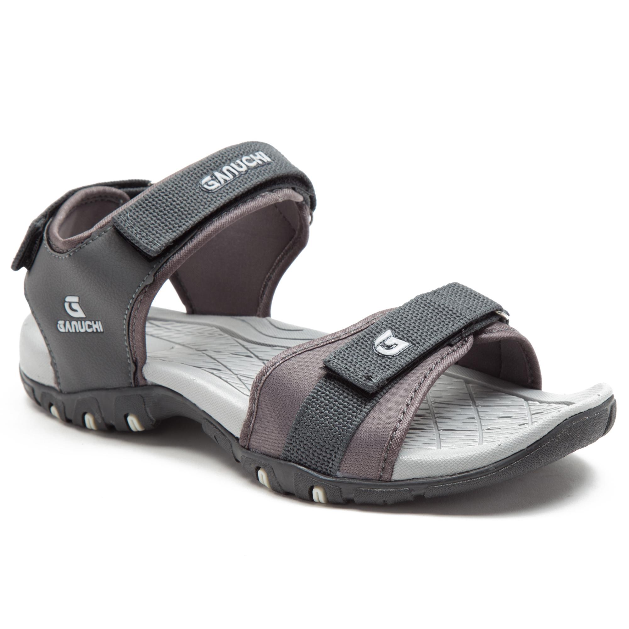 GANUCHI | Ganuchi by Franco Leone Men's Synthetic Grey Sandals