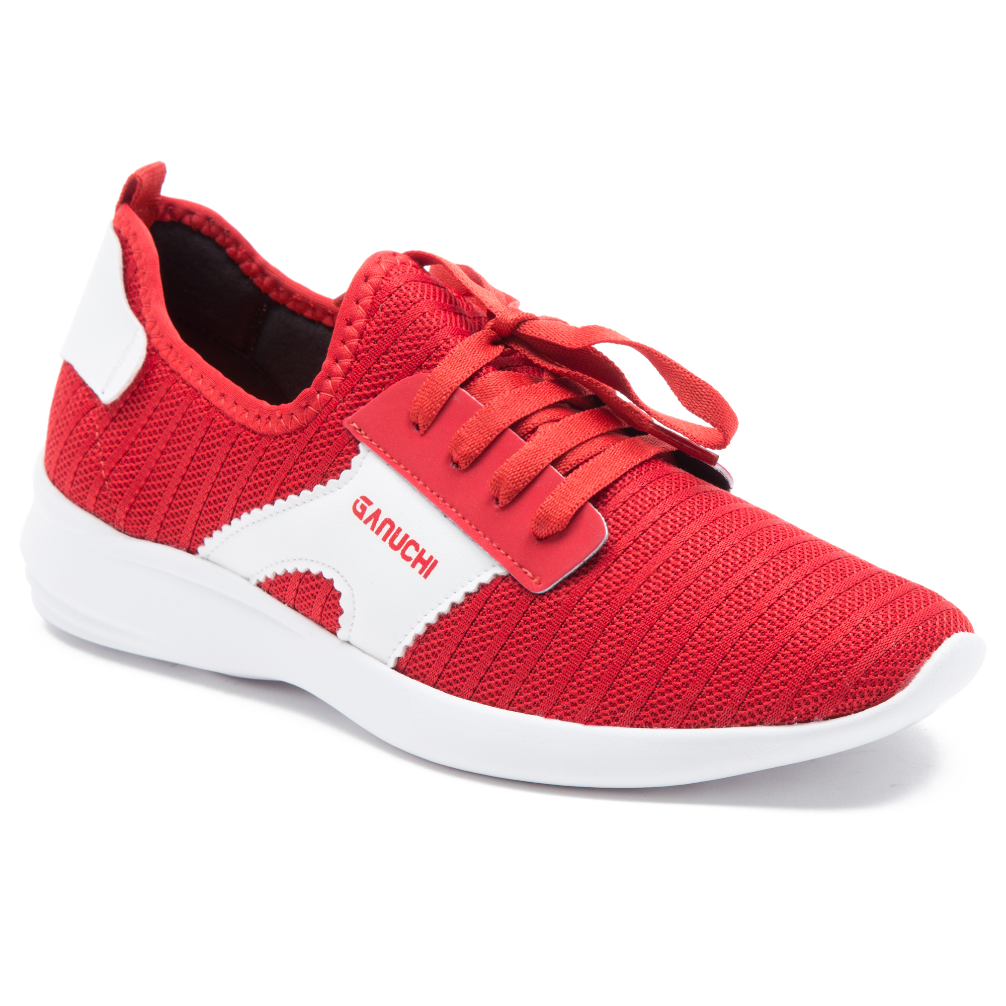 GANUCHI   Ganuchi by Franco Leone Women's Mesh Red Running Shoes