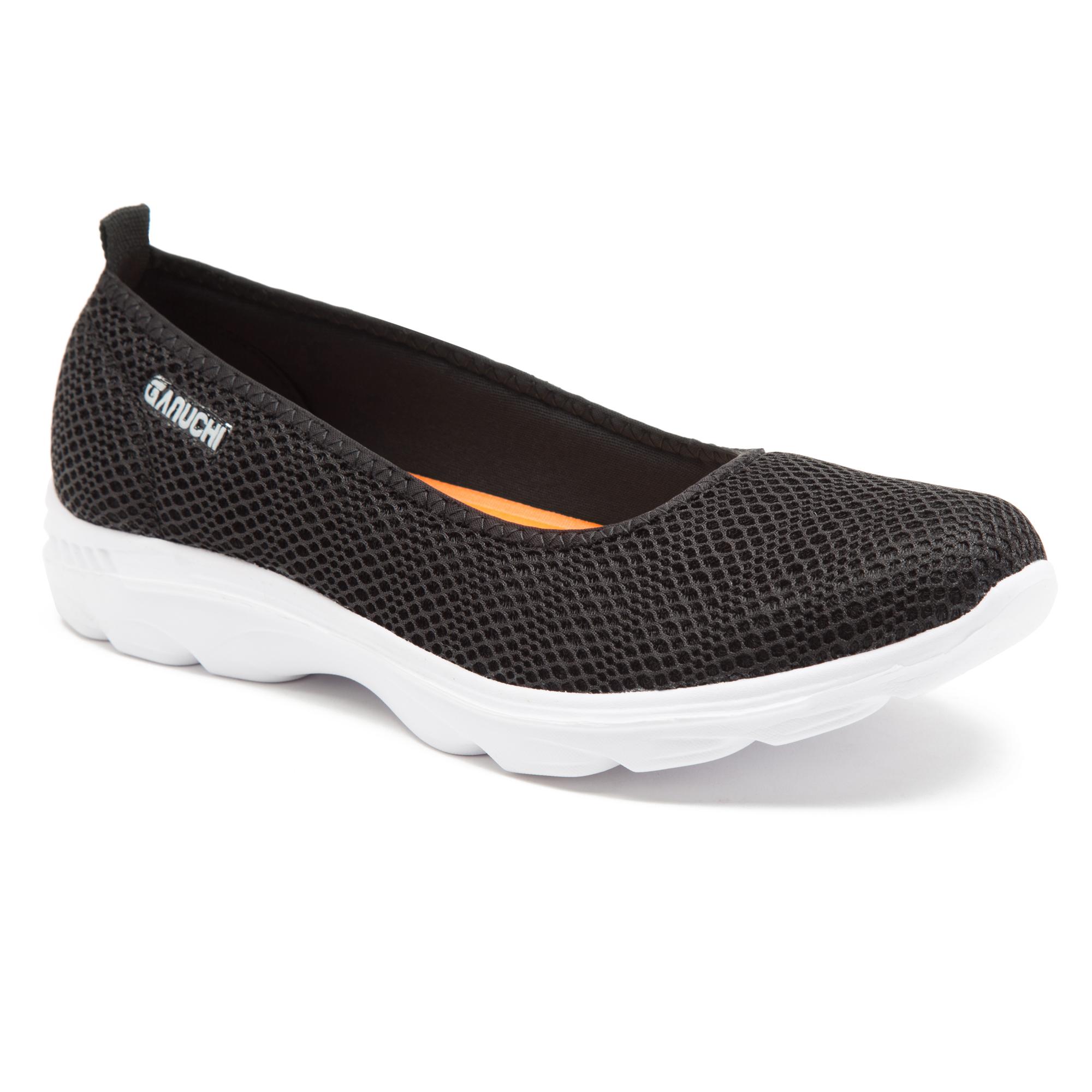 GANUCHI | Ganuchi by Franco Leone Women's Mesh Black Running Shoes