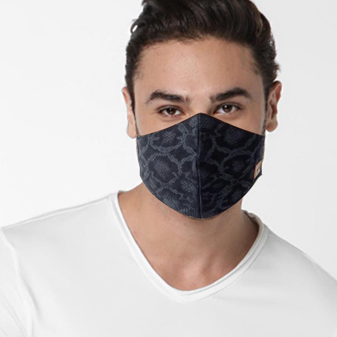 GAS | GAS printed denim blue mask