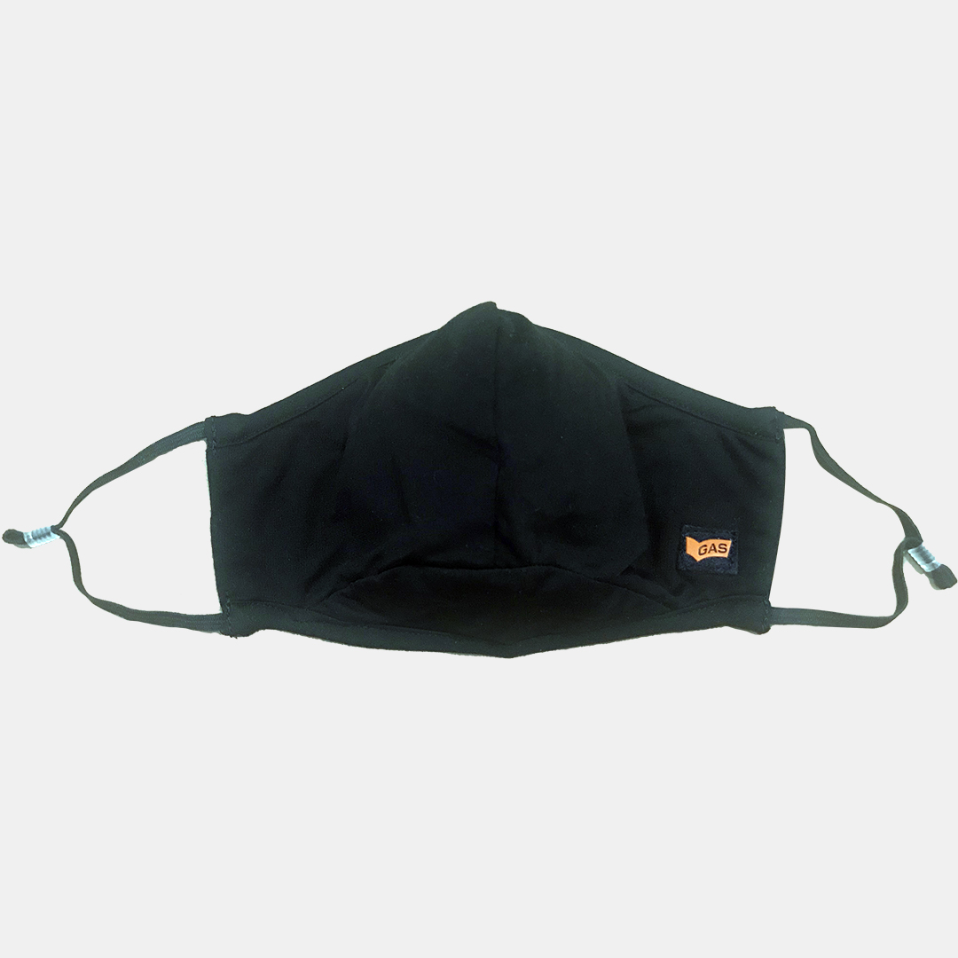GAS | GAS knitted solid black mask