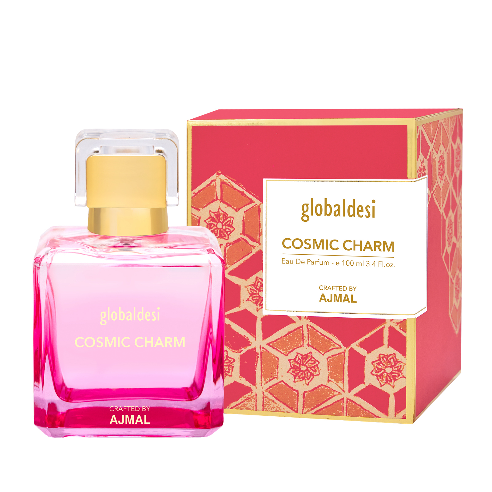 Global Desi Crafted By Ajmal | Global Desi Cosmic Charm Eau De Parfum 100ML for Women Crafted by Ajmal