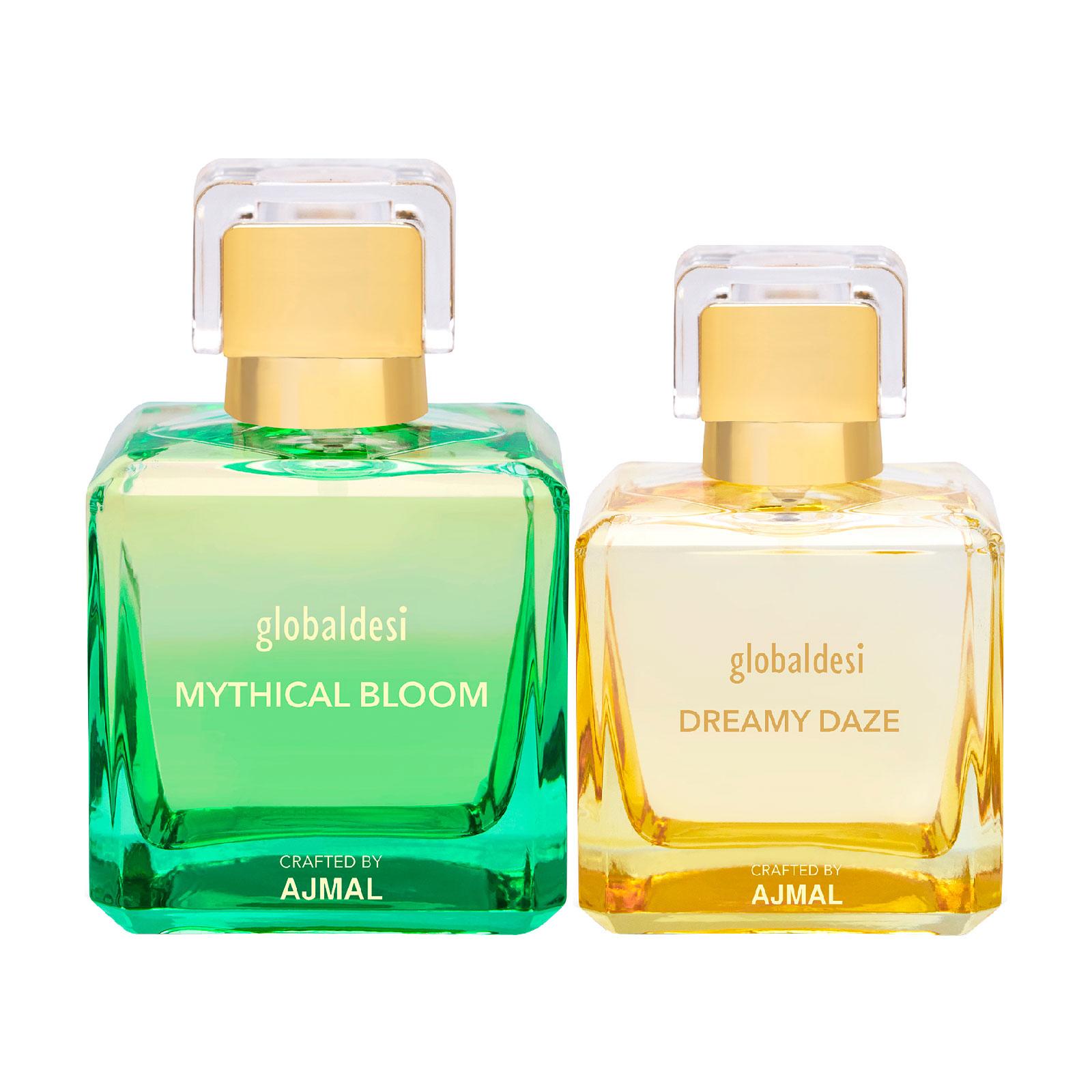 Global Desi Crafted By Ajmal | Global Mythical Bloom 100ML & Dreamy Daze 50ML Eau De Parfum for Women Crafted by Ajmal + 2 Parfum Testers