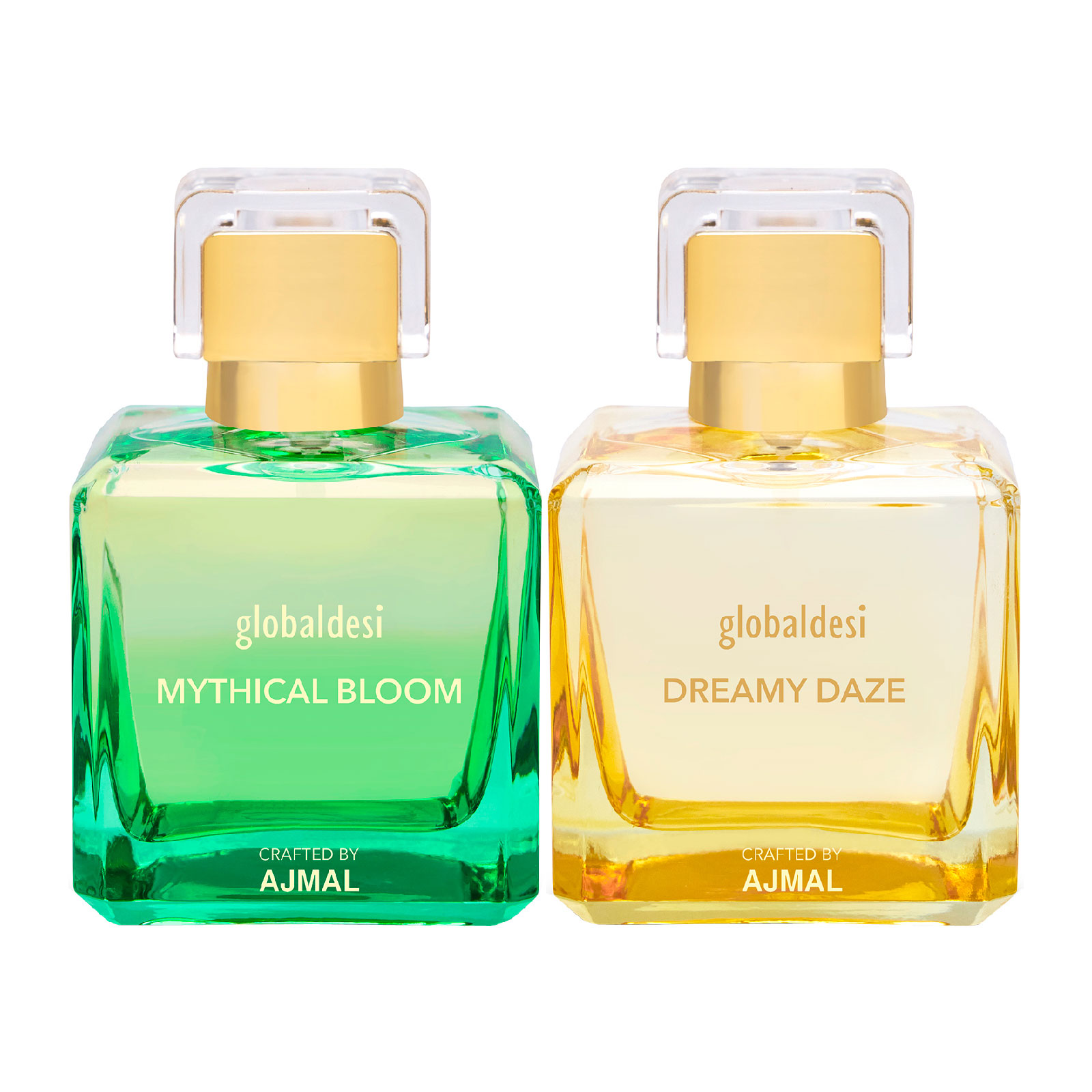 Global Desi Crafted By Ajmal | Global Mythical Bloom & Dreamy Daze Pack of 2 Eau De Parfum 50ML for Women Crafted by Ajmal + 2 Parfum Testers
