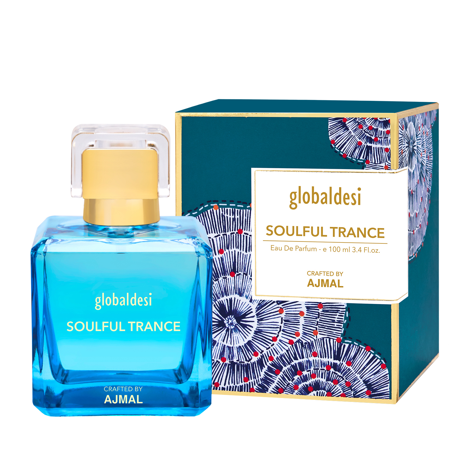 Global Desi Crafted By Ajmal | Global Desi Soulful Trance Eau De Parfum 100ML for Women Crafted by Ajmal