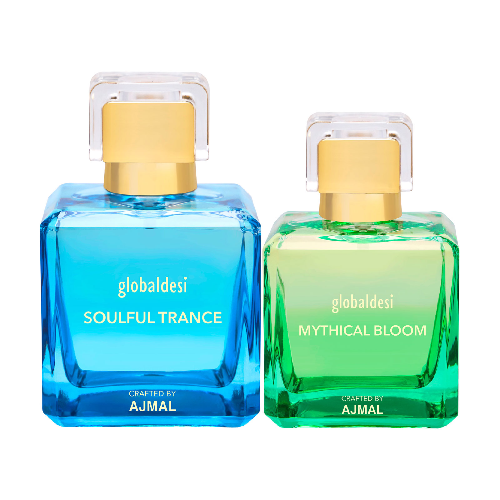 Global Desi Crafted By Ajmal | Global Desi Soulful Trance 100ML & Mythical Bloom 50ML Eau De Parfum for Women Crafted by Ajmal + 2 Parfum Testers