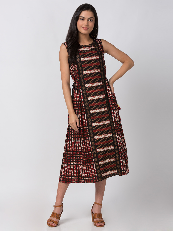 Ethnicity | Ethnicity Black Rayon Women Kurta