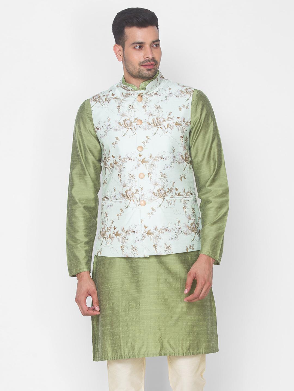 Ethnicity   Pista Printed sleeveless jacket