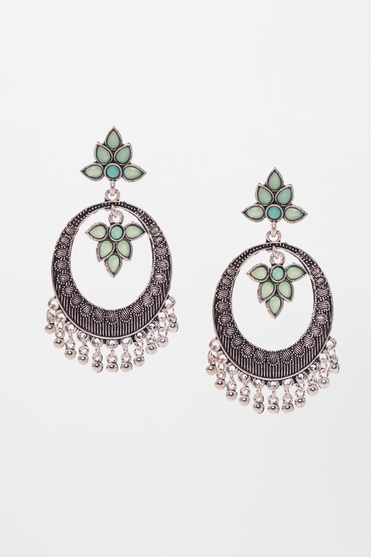 Global Desi | Green Earrings