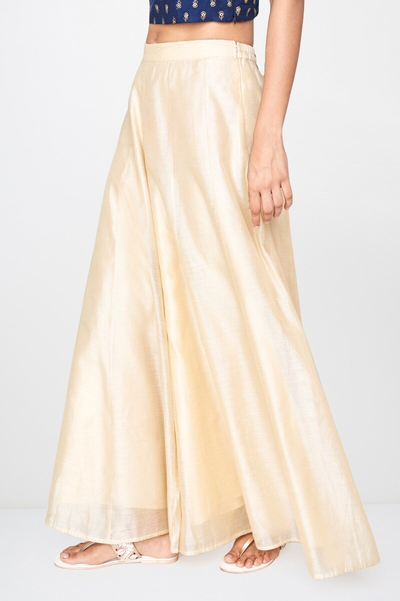 Global Desi | Sustainable Beige Cut-Out Sharara