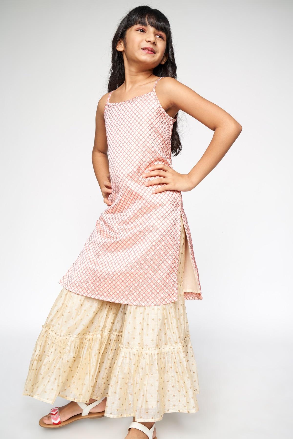 Global Desi | Pink Embellished Shift Set