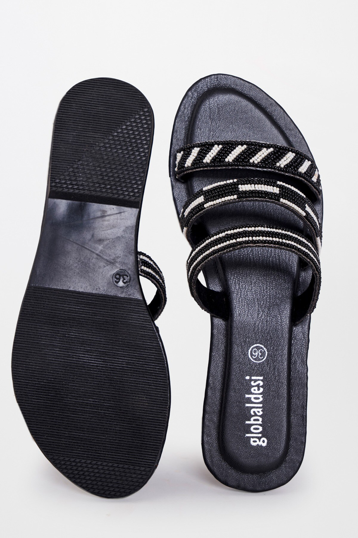 Global Desi | Black Flat Footwear