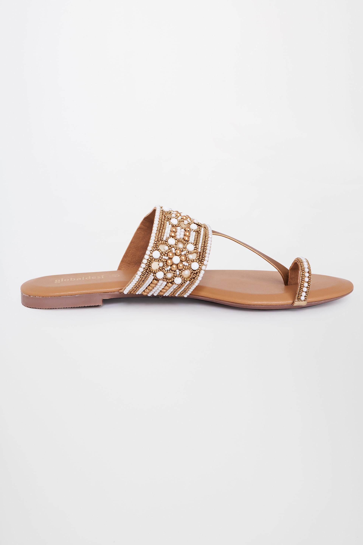 Global Desi | Gold Ethnic Sandals
