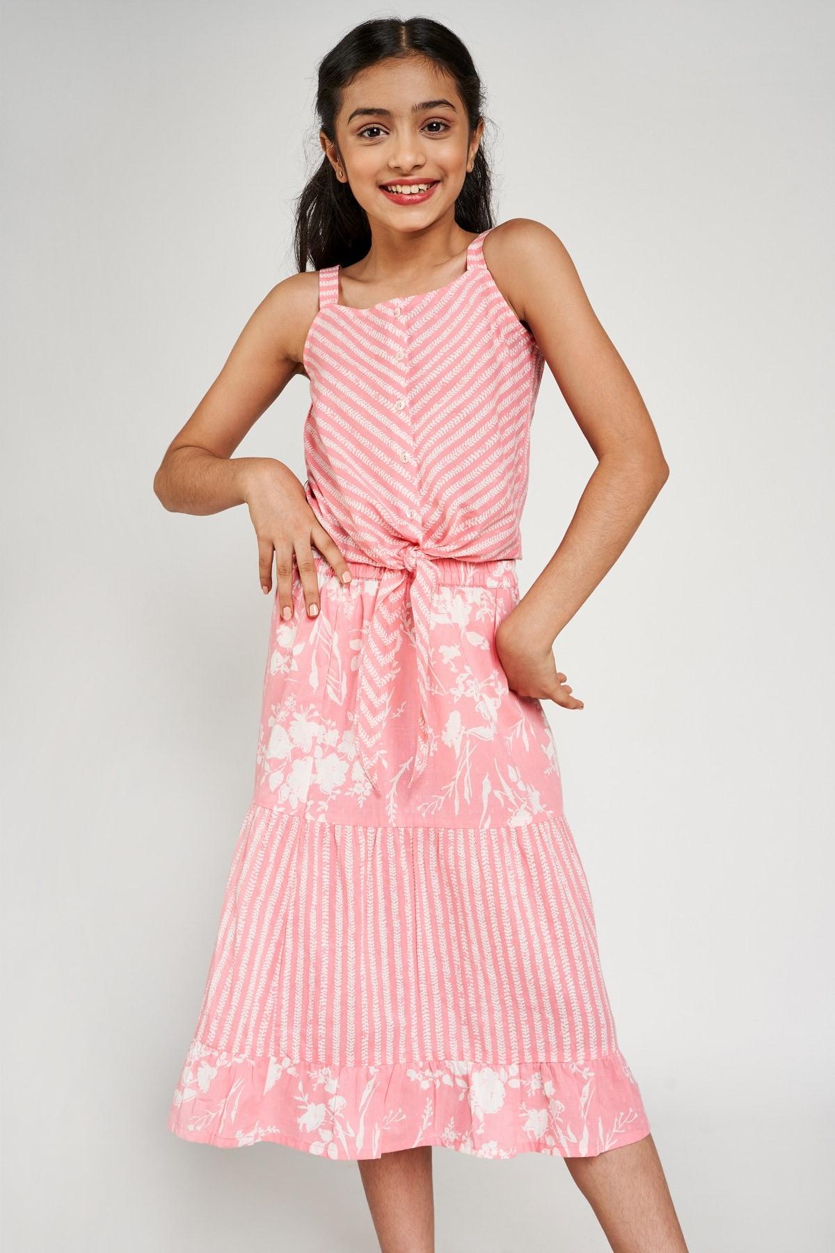 Global Desi | Pink Floral Printed Suit