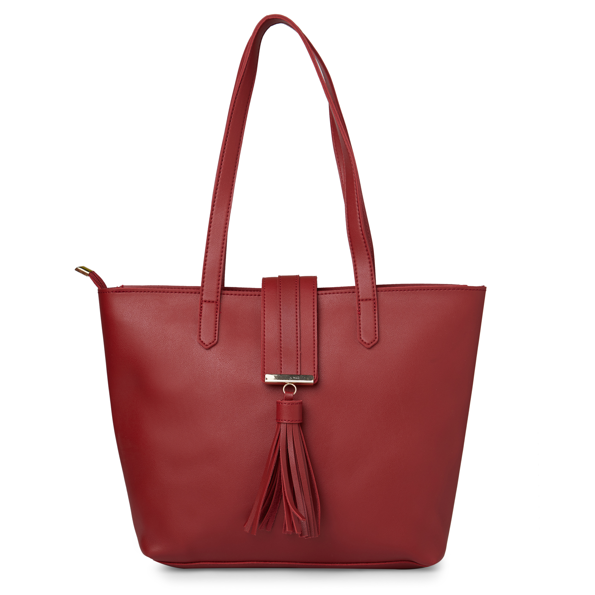 globus   Globus Maroon Shopper Bag