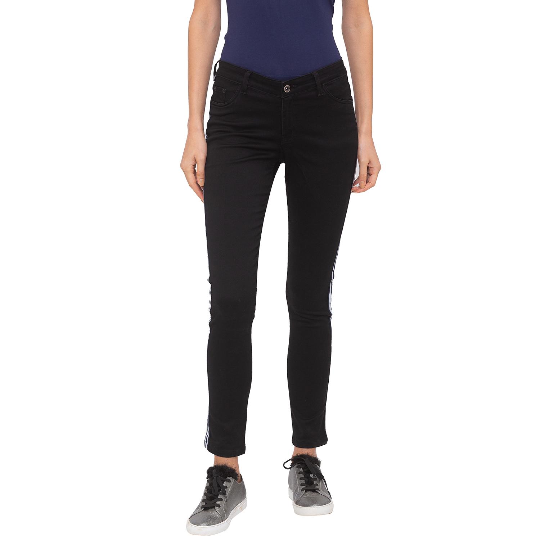 globus   Globus Black Solid Jeans