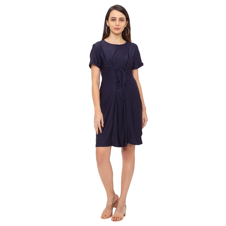 globus | Globus Navy Blue Solid Dress