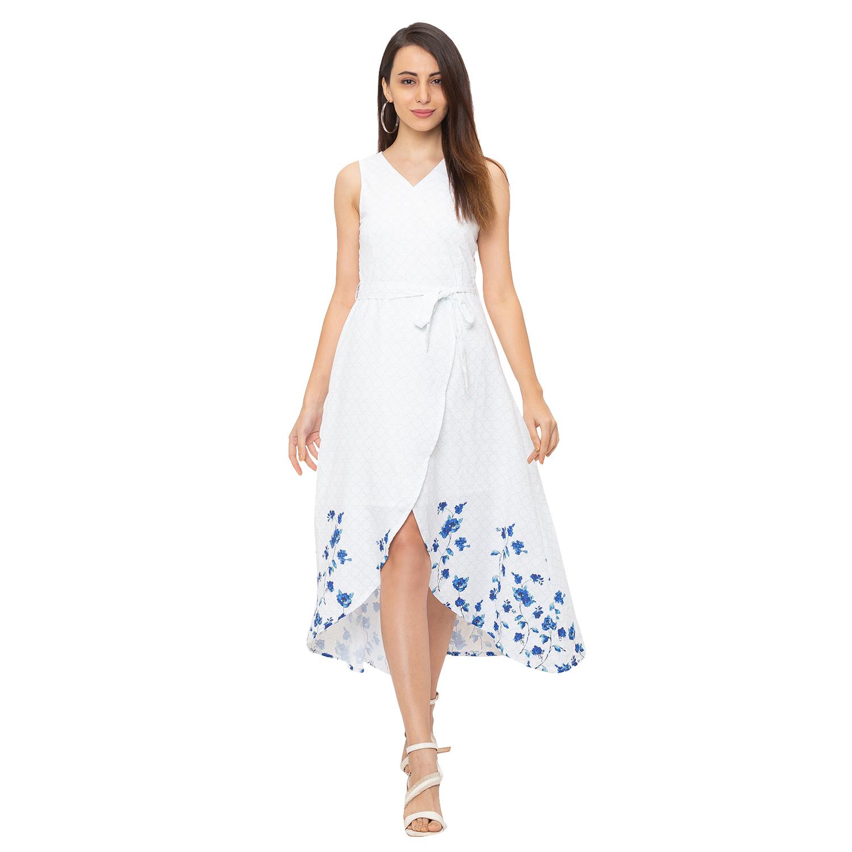 globus   Globus White Printed Dress