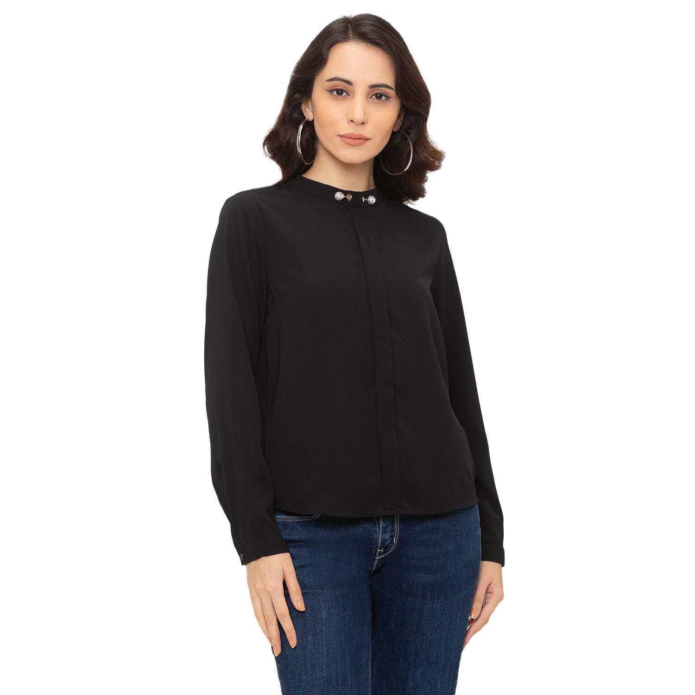 globus | Globus Black Solid Shirt