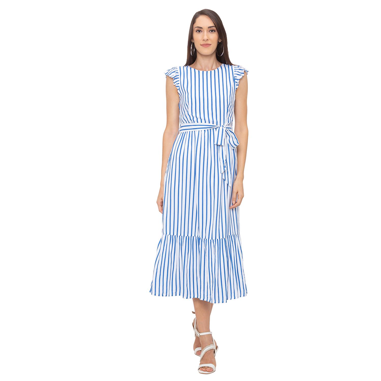 globus   Globus White Striped Dress