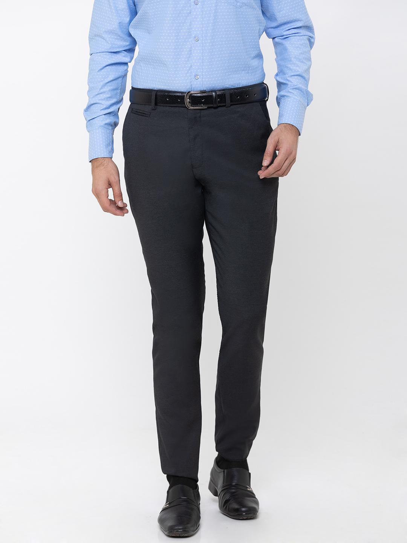 globus | Globus Grey Solid Trousers