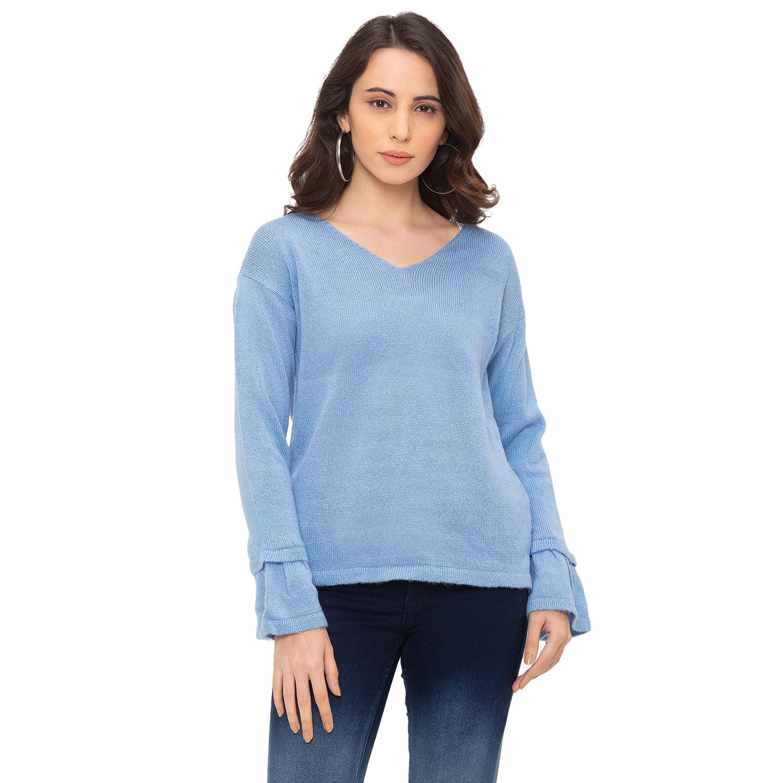 globus   Globus Blue Solid T-Shirt