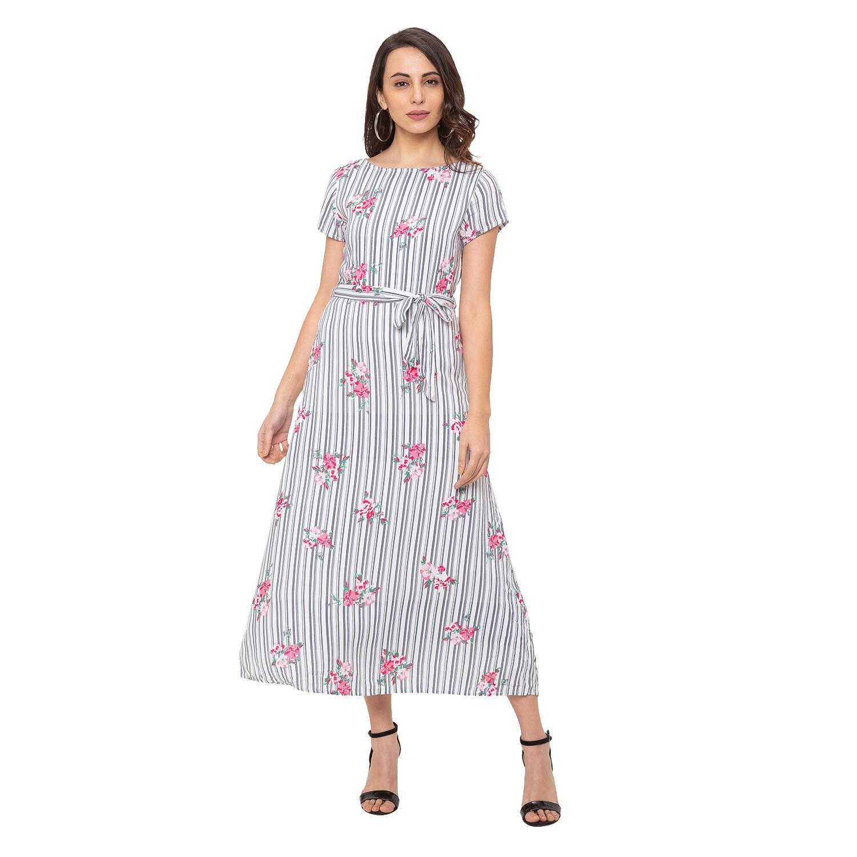 globus | Globus White Striped Dress