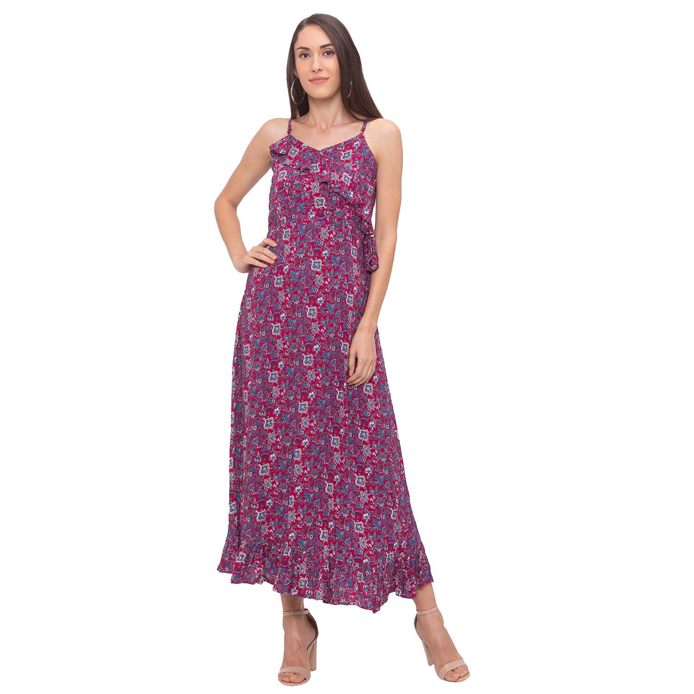 globus | Globus Maroon Printed Dress