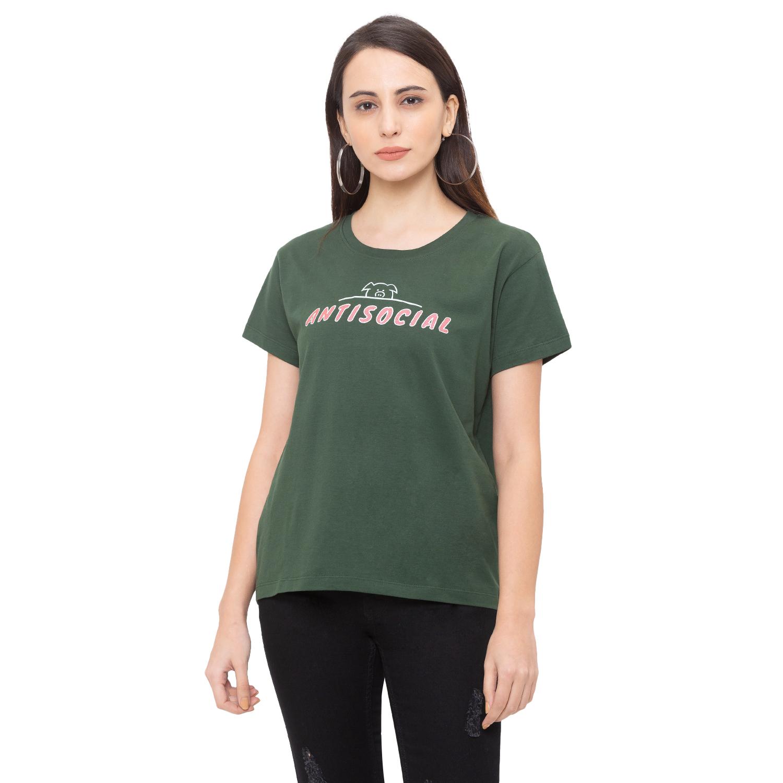 globus | Globus Olive Printed T-Shirt