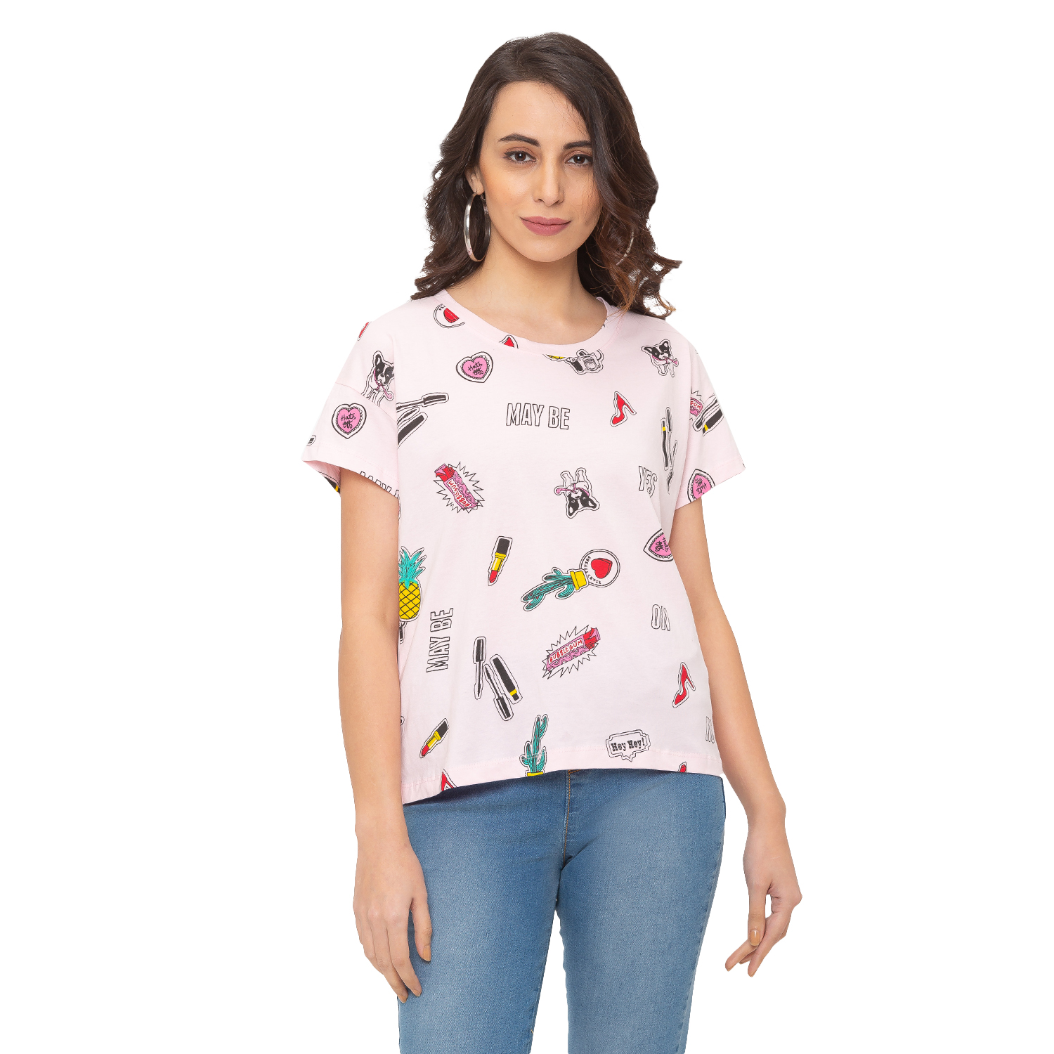 globus | Globus Pink Printed T-Shirt