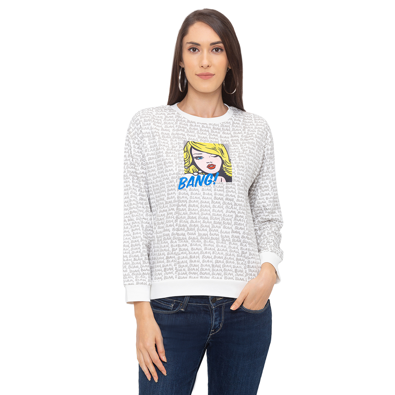 globus | Globus Off White Printed Sweatshirt