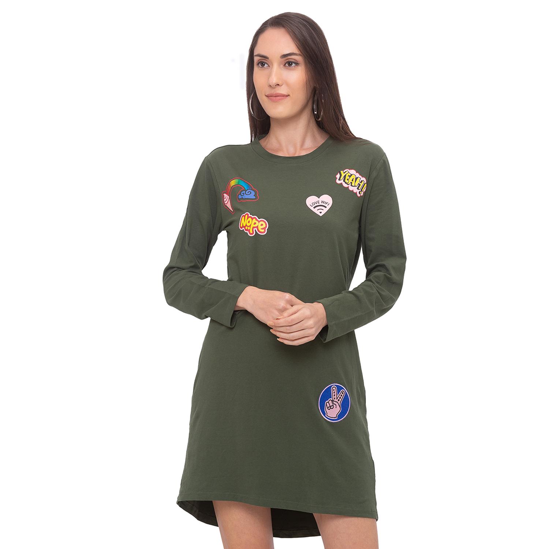 globus | Globus Olive Printed Dress