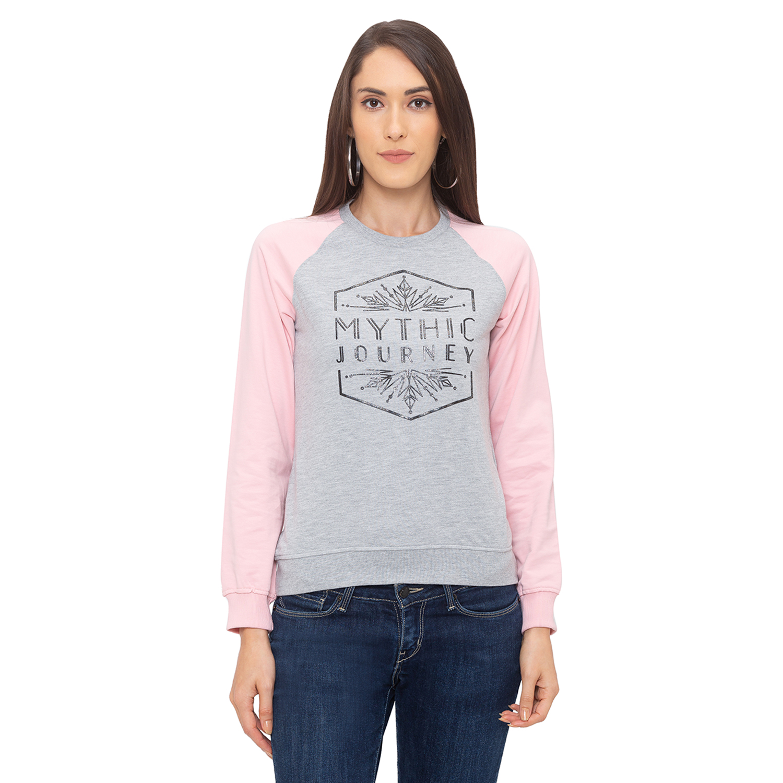 globus   Globus Grey Printed Sweatshirt