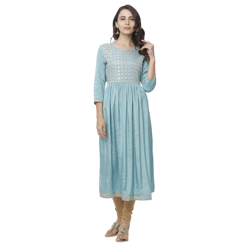 globus | Globus Blue Embellished Casual Dress