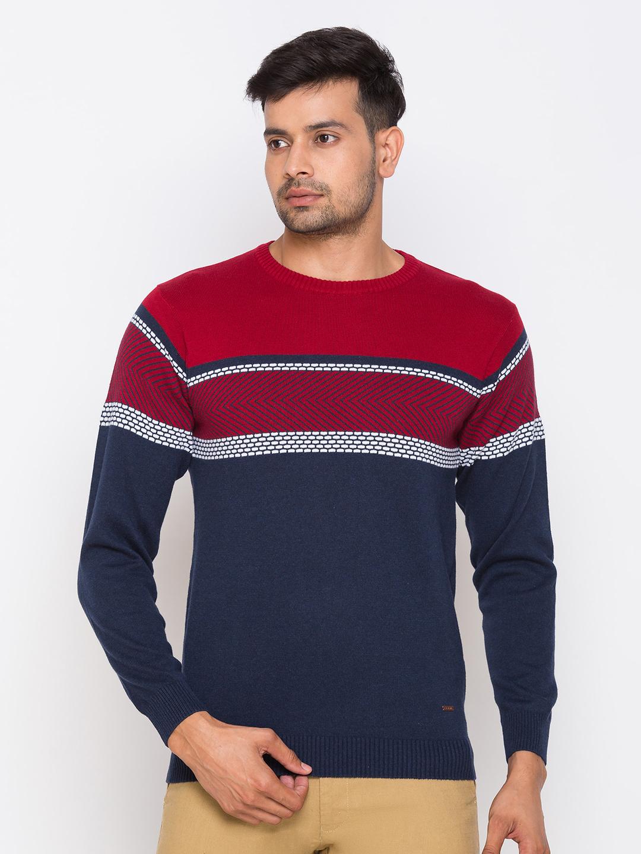 globus   Globus Royal Blue Colourblocked Pullover Sweater