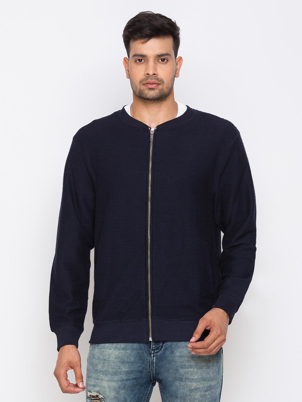globus | Globus Navy Blue Solid Sweatshirts