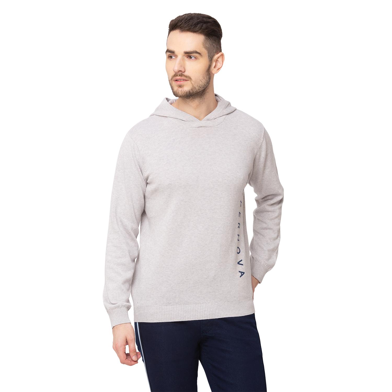 globus | Globus Grey Melange Solid Pullover Sweater