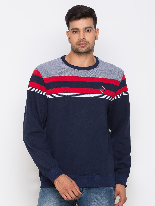 globus | Globus Navy Blue Printed Sweatshirts