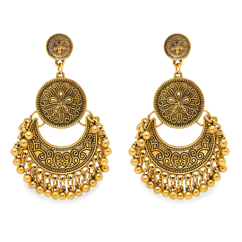globus   Globus Gold Long Earring