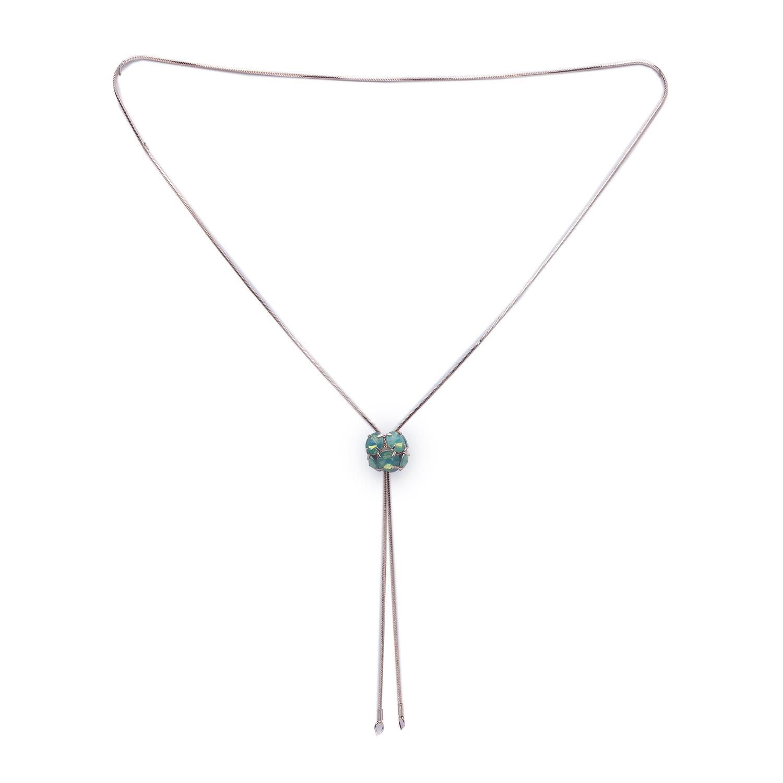 globus   Globus Rose Gold Long Necklace