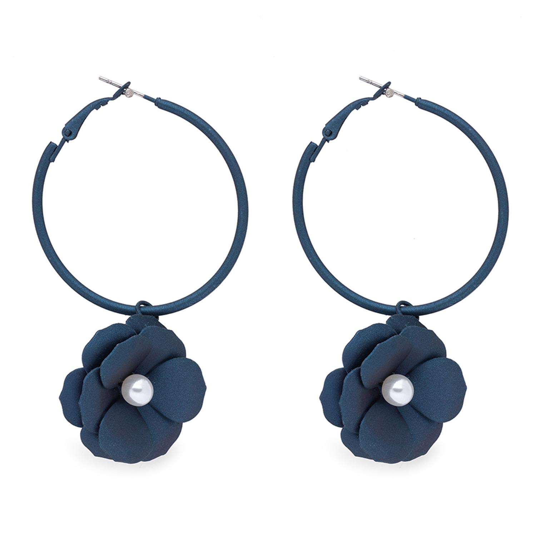 globus | Globus Navy Blue Long Earring