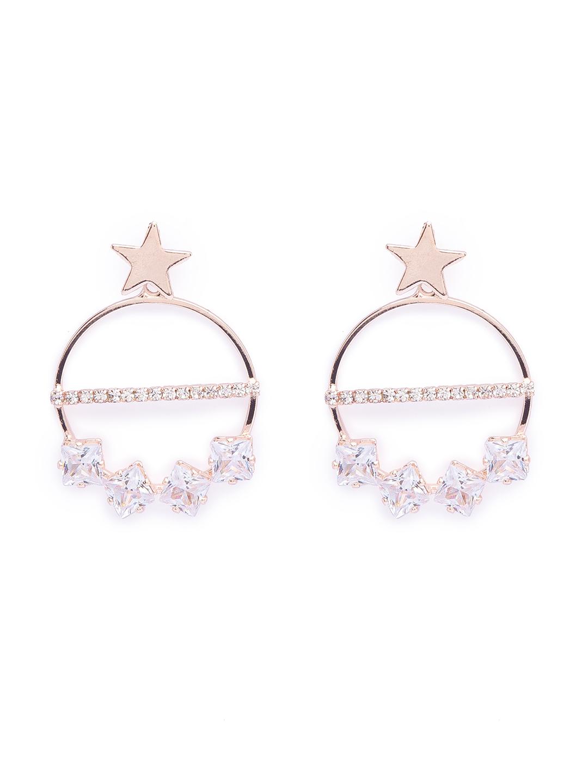 globus | Globus Rosegold Dangling Stud Earring