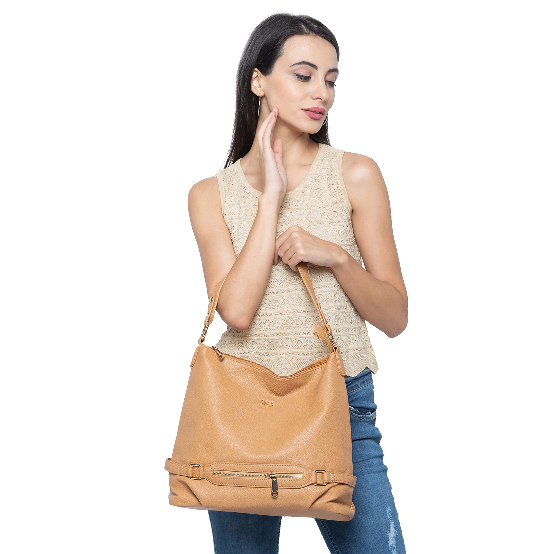 globus | Globus Light Brown Hobo Bag