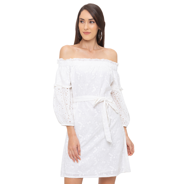 globus | Globus White Solid Dress