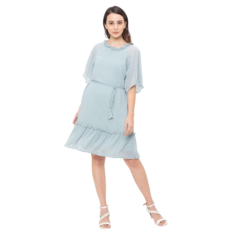 globus | Globus Green Solid Dress