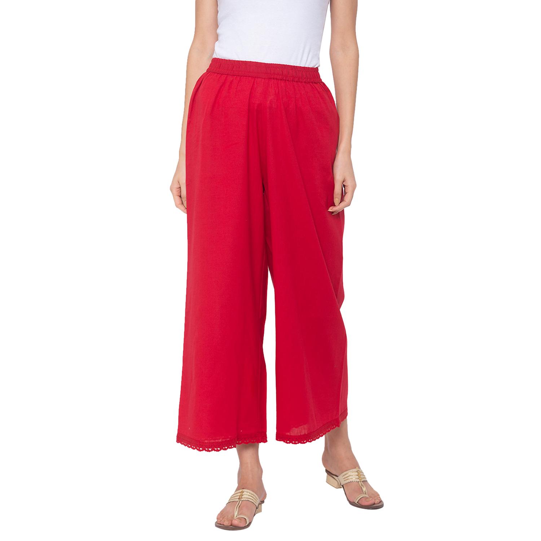 globus | Globus Red Solid Pants