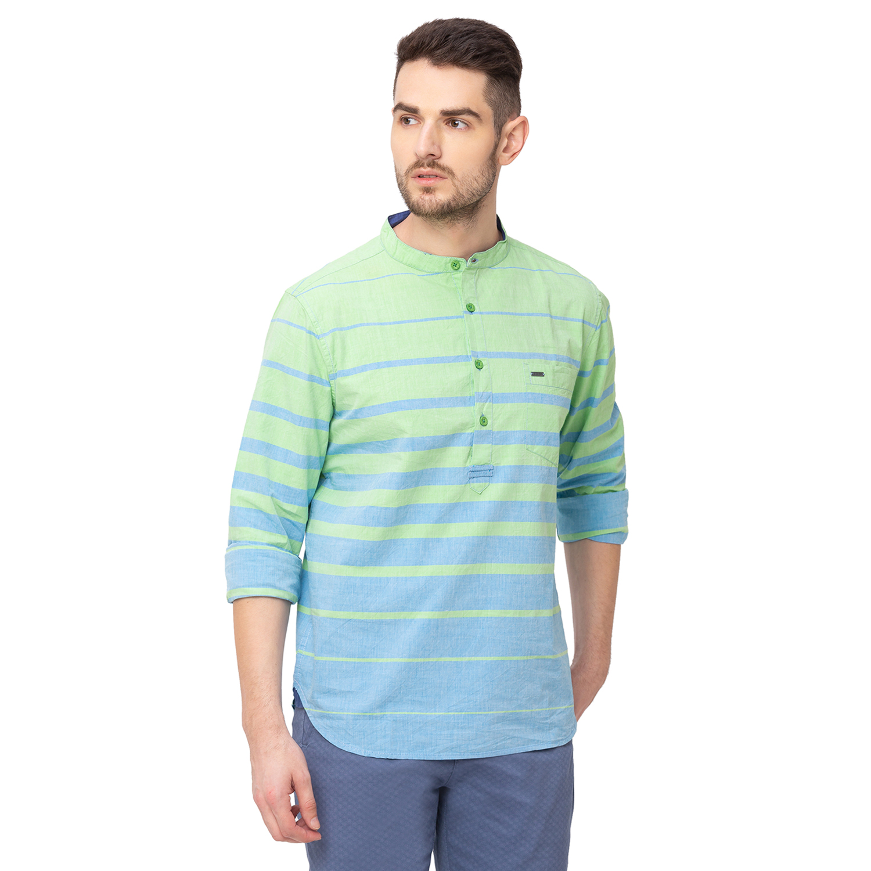 globus | Globus Mint Striped Shirt