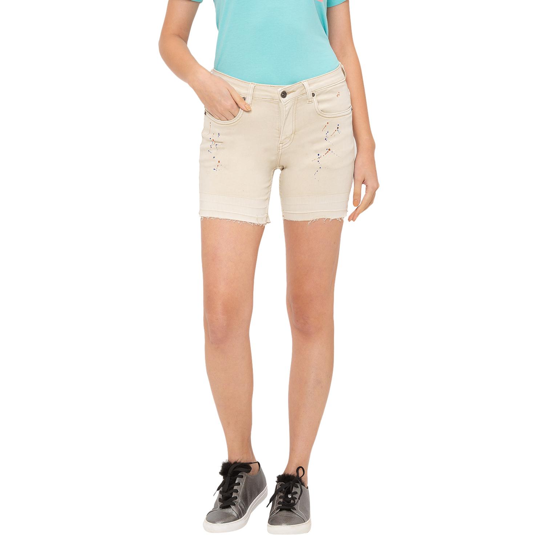 globus | Globus Beige Printed Shorts