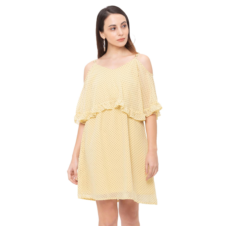 globus | Globus Yellow Printed Dress